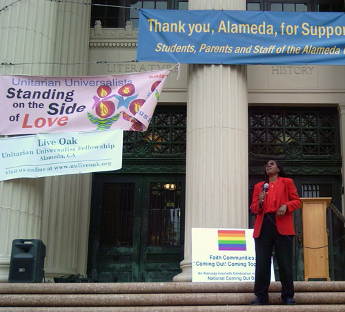 Speaker at Coming Out celebration