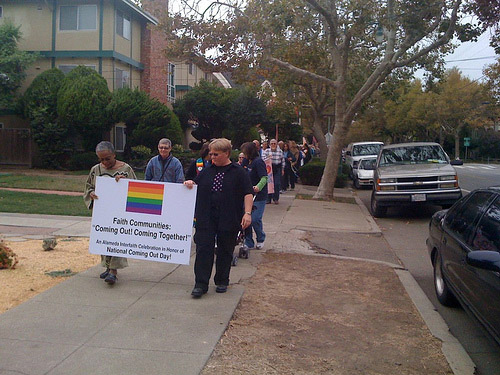 Walkers at Coming Out Day Celebration