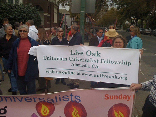 Live Oak walkers National Coming Out Day celebration
